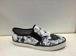"Canvas-sko. Black Flower  ""s.Oliver"""