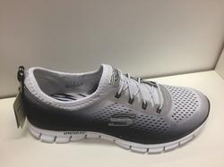 "Skechers sköna skor ""Stretch fit"" med resår, Svart/vit."