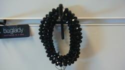 Baglady armband, svart