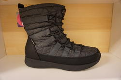 """Womens Boulder""  Skechers  vinterkänga,  waterproof,  warm tech  och memory foam - innersula.  Mörkgrå/svart."